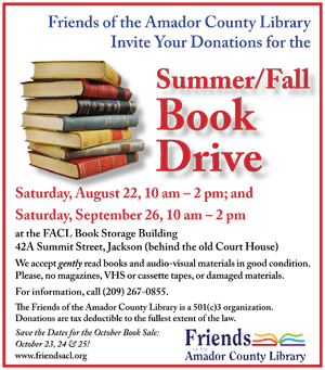 Summer/Fall Book Drive flyer