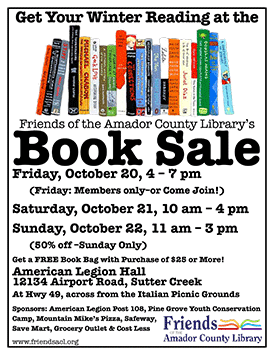 Fall Book Drive flyer